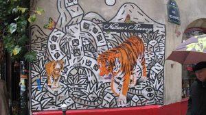 Tiger in der Rue des Rosiers, November 2010